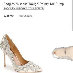 Badgley Mischka ivory Rouge Heels